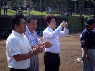 開会式に参加いたしました、当クラブ会長 L久保田、 幹事 L杉浦 L庄田