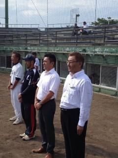 閉会式に参加いたしました、会長 L久保田、副会長 L高野