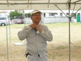 祭りの副実行委員長でもあります地区役員L山川