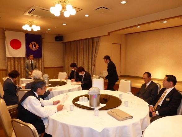 久保田会長のあいさつ。
