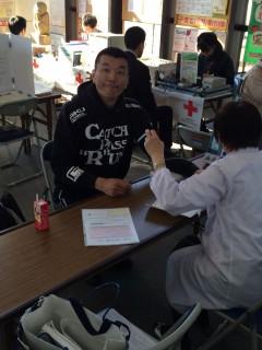 佐藤Lにも献血いただきました