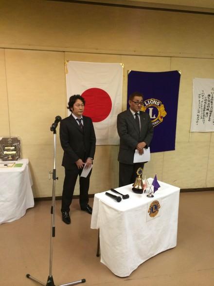 先月の理事会で承認されました高田博美Lの入会式を執り行いました